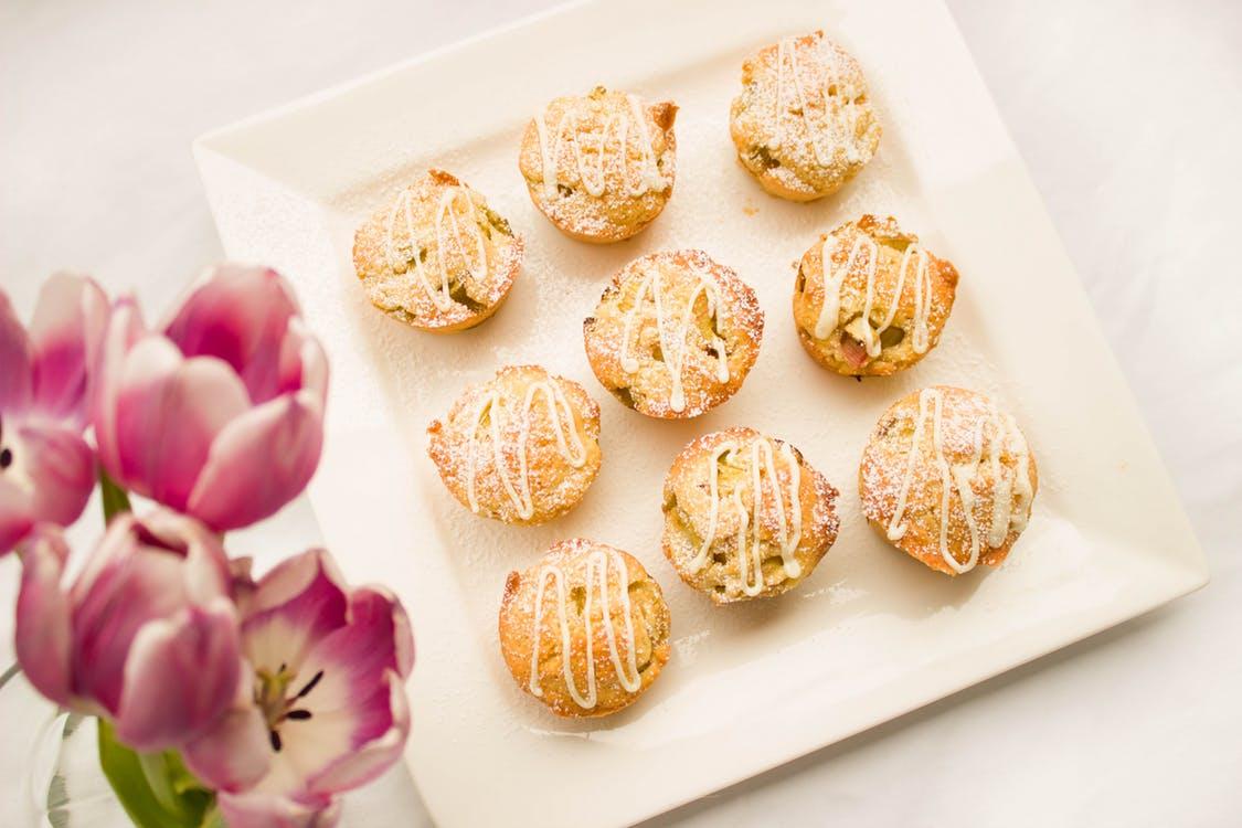 Romantické ružové muffiny
